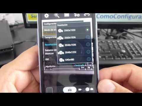 configurar camara samsung galaxy s3 mini español Full HD