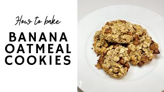 Banana Oatmeal Cookies | ONLY 3 INGREDIENTS