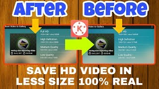 Save or Export HD video in less size KineMaster | KineMaster tutorial #2