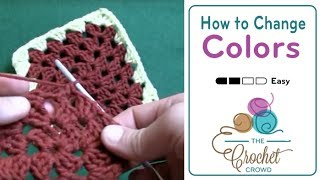 How To Crochet a Granny Square: Change Color
