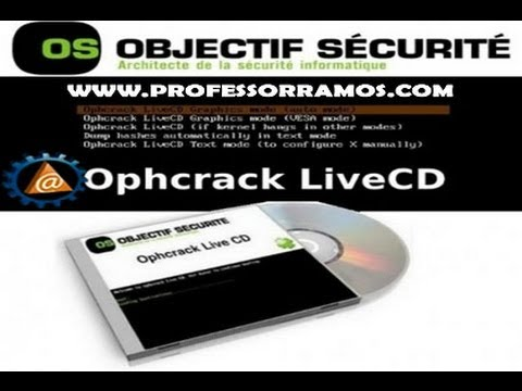 Descubra as Senhas do Windows 7 com OphCrack LINUX - www.professorramos.com