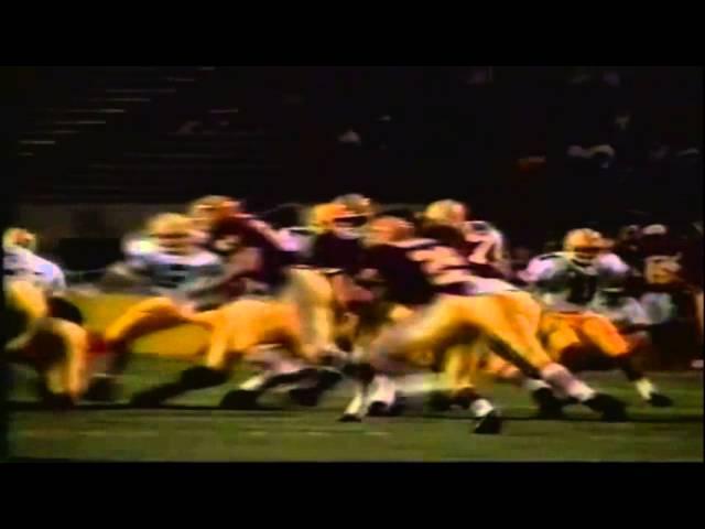 Oregon CB Herman O'Berry tackle for loss vs. ASU 11-09-1991