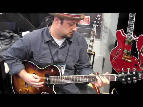 Demo Heritage Guitar Based Off Gibson Es 335  Les Paul At NAMM 2010 Alex Skolnick