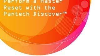 Pantech Discover : Master Reset
