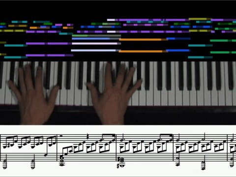 Beethoven - Moonlight Sonata (animated score, 1st mvt.) piano solo