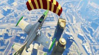 Insane Flying Plane Stunts (GTA 5 Challenges)