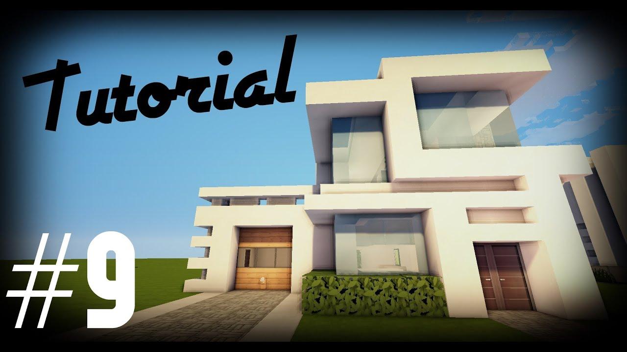 Minecraft como hacer una casa moderna 9 tutoriales for Casa moderna 9 mirote y blancana