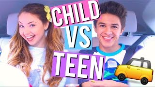 Child VS Teen: Car Rides w/ Brent Rivera! | Meredith Foster