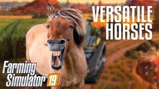 Farming Simulator 19 (multiplayer) / Разводим лощадей