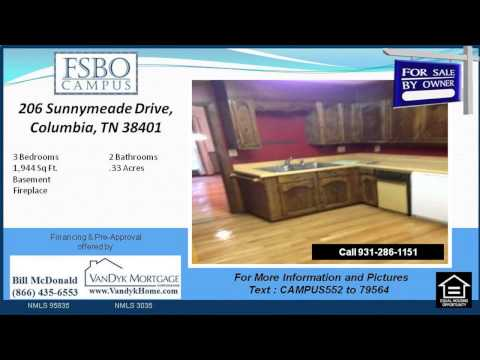 3 Bedroom Home for Sale near Whitthorne Middle School in Columbia TN