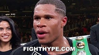 "DEVIN HANEY SECONDS AFTER DOMINATING SANTIAGO; WANTS LOMACHENKO OR RYAN GARCIA ""SOONER THAN LATER"""