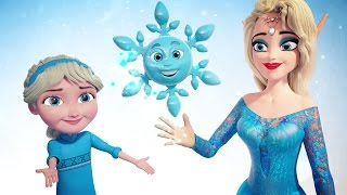 New FROZEN Snowflake Song | New Science Learning Song + Video in Frozen Land