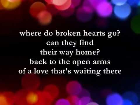 Where Do Broken Hearts Go     Lyrics     Whitney Houston