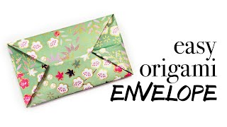 Easy Origami Envelope Tutorial ♥︎ DIY ♥︎