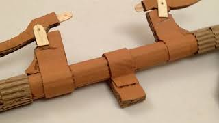 Amazing bicycle from cardboard-how to make a cardboard bicycle (part 4/5)
