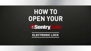 How to Open a Sentry®Safe Electronic Lock Fire Safe