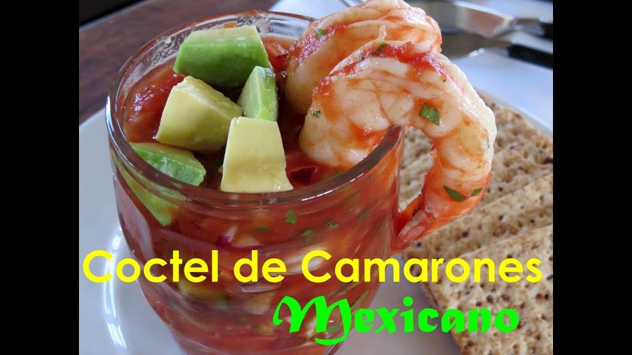 Coctel de camarones mexicano youtube for Coctel con zumo de tomate