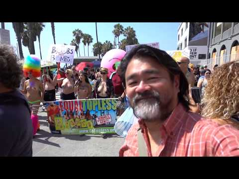 11th Annual Go Topless Day Parade at Venice Beach CA, August 26, 2018