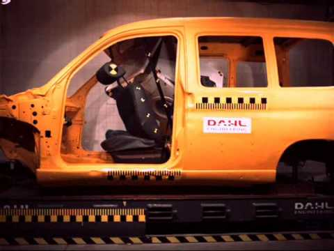 0 Crash Testing of unsecured cargo with both front and rear view