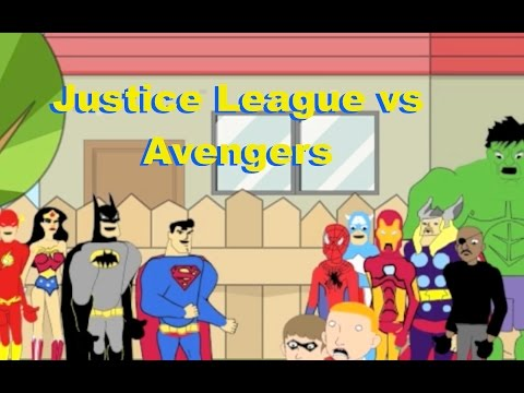 Justice League vs Avengers Animated Cartoon