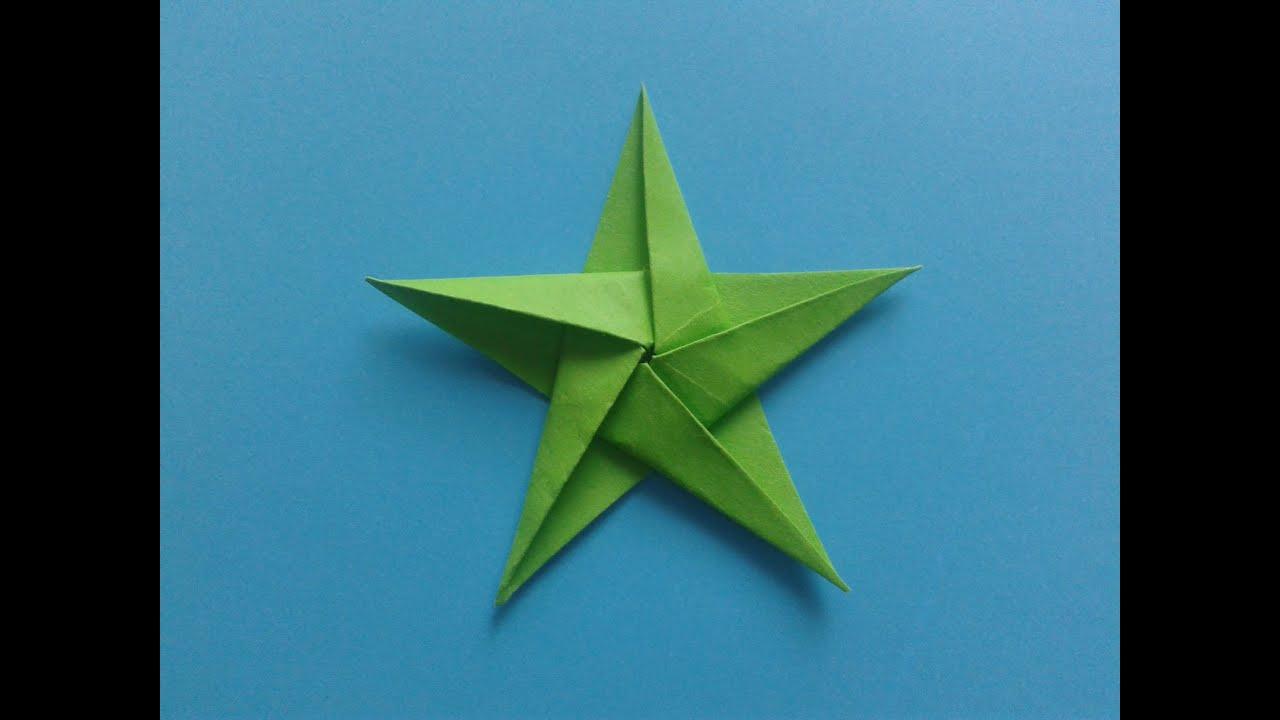 Как сделать звезду из бумаги пятиконечная звезда оригами