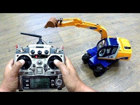Conversion of toy into rc excavator (장난감으로 만든 포크레인)