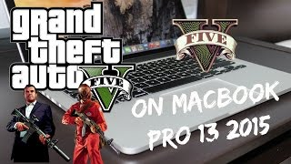 "13"" MacBook Pro Retina Intel Iris 6100 2015 Gameplay & Review: Grand Theft Auto V ( GTA 5)"