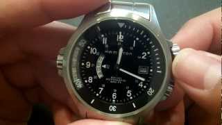 HAMILTON KHAKI NAVY GMT H776150 ADJUSTMENTS - Automatic GMT Watch