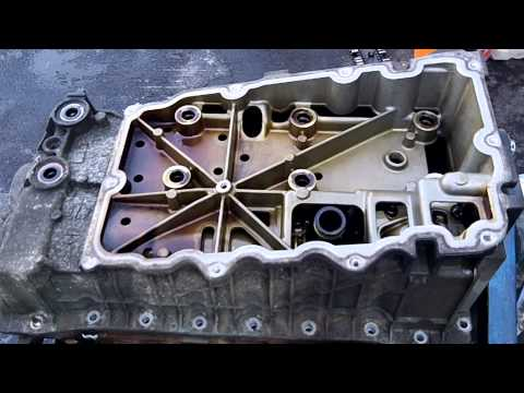 2002 Ford Explorer Timing Chain update 01-08-2013 upper oil pan removal 2