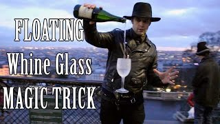 Floating wine Glass trick 🍷 - Julien Magic