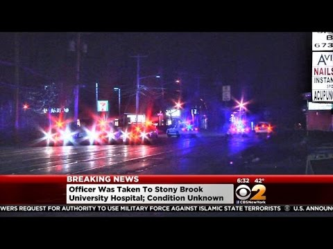 NY officer shot during stop, in serious condition