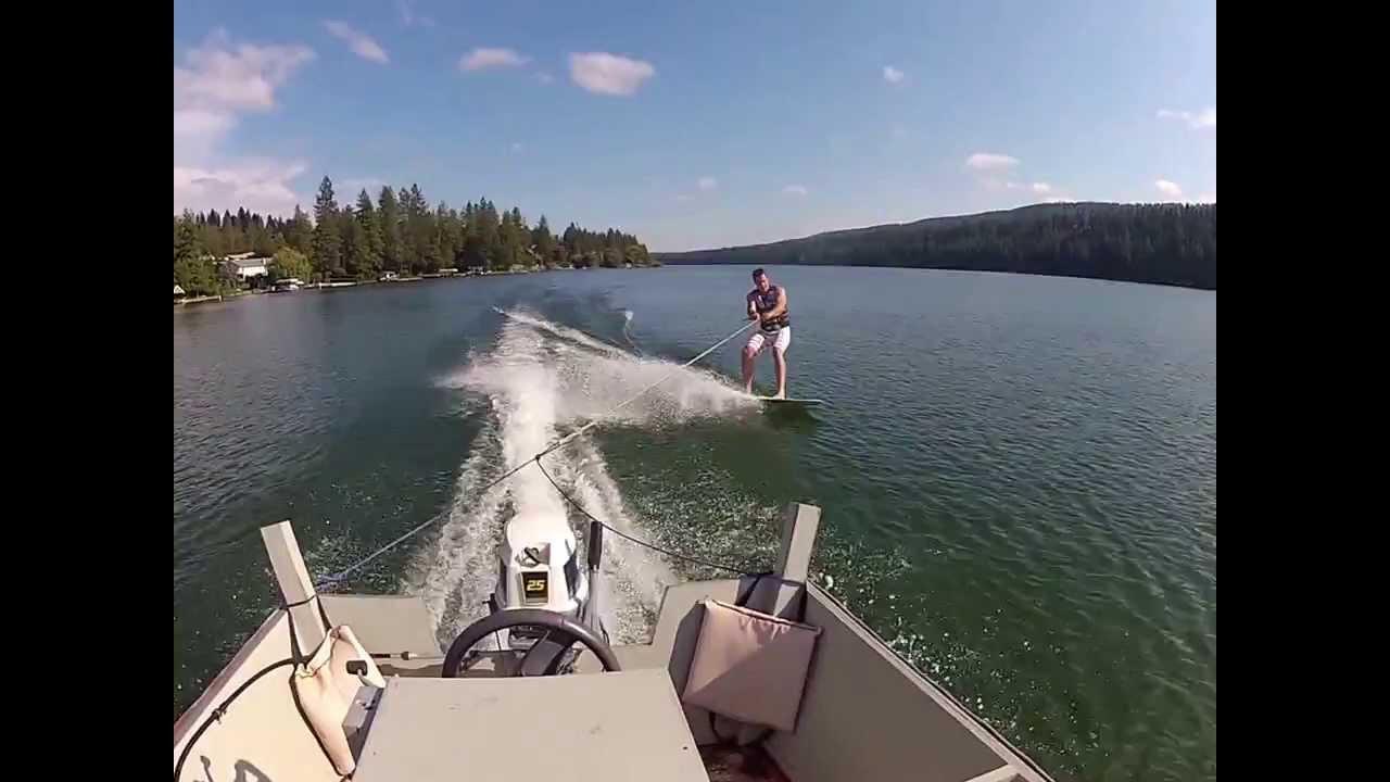 Lumberyard Skiff and a surf board - YouTube