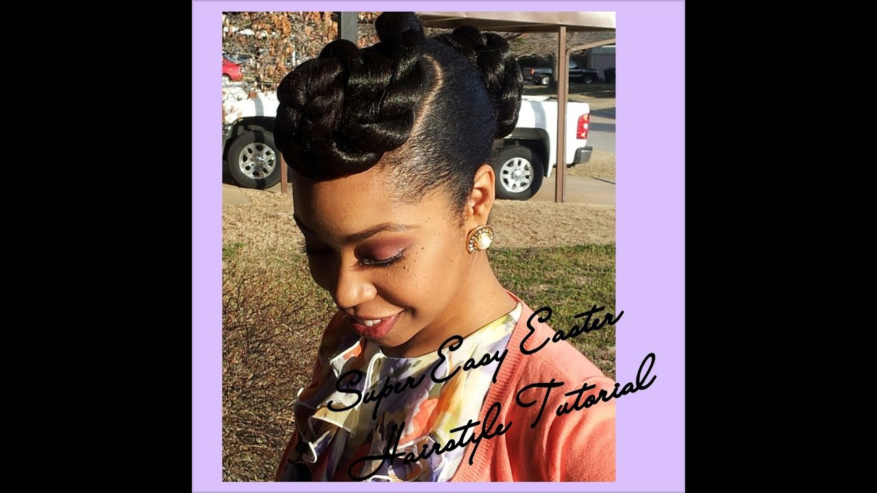 Transitioning Hairstyles For Short Hair Youtube : ... Hairstyle Tutorial (Natural Hair, Transitioning Hair, Relaxed Hair