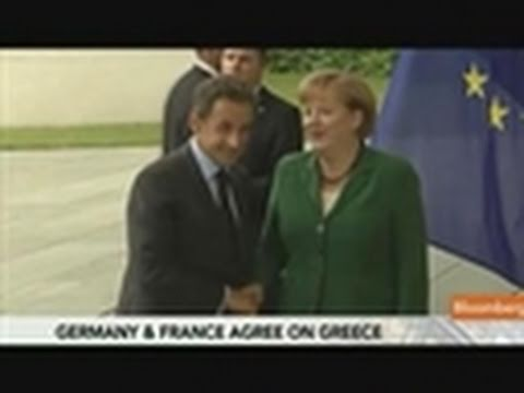 Merkel, Sarkozy Find Joint Position on Greece for Summit