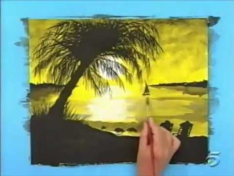 Dibujos de paisajes para pintar con tempera - Imagui