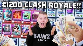 ZO ZIET EEN €1200 ACCOUNT ER UIT IN CLASH ROYALE!! NEDERLANDS