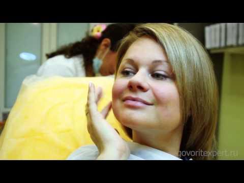 Видео как снять опухоль с губы