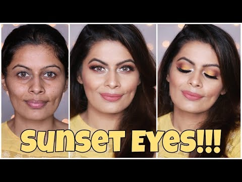 Sunset Eyes !!! | Hindi | Yellow Eyeshadow Makeup Look | Kavya K