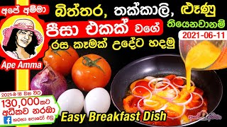 Easy breakfast by Apé Amma