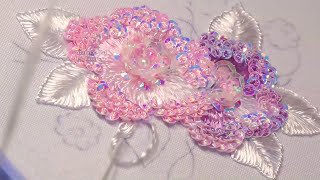 EMBROIDERY:  FLOWER EMBROIDERY \ ВЫШИВКА ПАЙЕТКАМИ