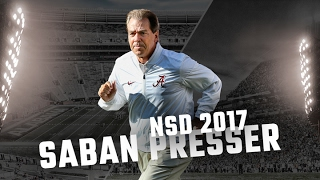 Nick Saban press conference on Alabama's National Signing Day recruits- Live