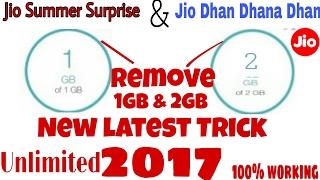 Jio Remove Jio Summer Surprise & Jio Dhan Dhana Dhan ,1Gb & 2Gb New Working Trick 100% Working ...