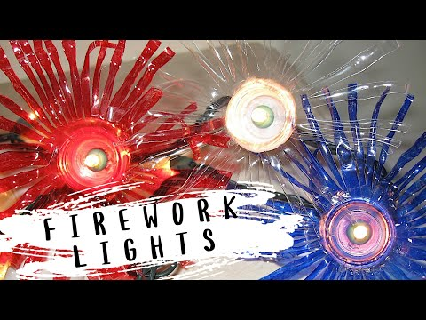 Recycled Water Bottle Fireworks Lights Craft Youtube