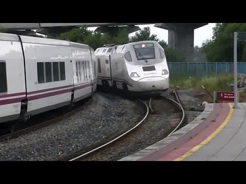 Trenes Alvia y TH Ferrol-Madrid-Ferrol con muchas pitadas