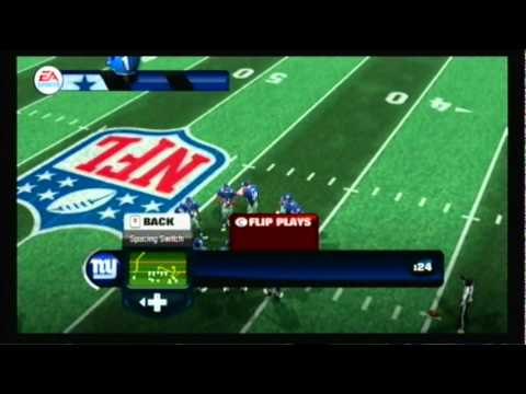 Madden 12 Wii Gameplay - Cowboys Vs Giants - Part 1 of 3