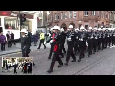 Royal Marines presented with Freedom Of Glasgow - The March to George Square