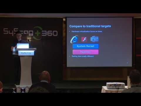 SyScan360'16 Singapore: Virtualization System Vulnerability Discovery Technology