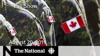 WATCH LIVE: The National for Monday, August 20  — Huawie Executive, Military Extremism, Jihadi Jack