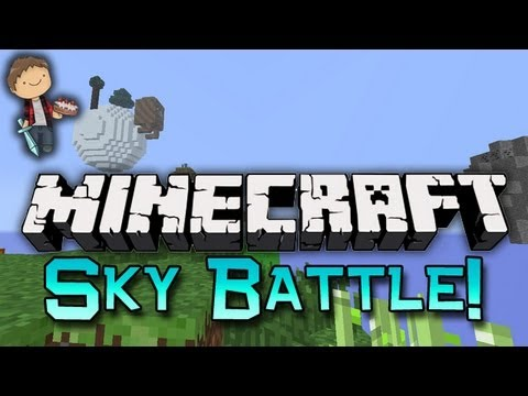 Minecraft: Sky Battle Mini-Game! w/Mitch & Friends!