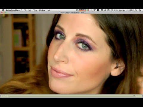 Makeup Tutorial Trucco Discoteca Metal Violet